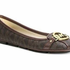 Michael Kors Fulton Moccasin Leather Flats, 8.5M